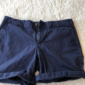 Gap Boyfriend Shorts Navy Sz 10
